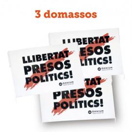 """Pack 1 - 3 domassos """"Llibertat presos polítics"""""""