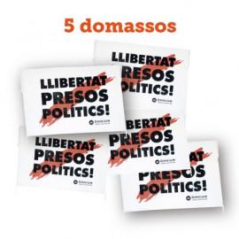 """Pack 2 - 5 domassos """"Llibertat presos polítics"""""""