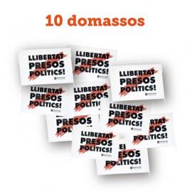 """Pack 3 - 10 domassos """"Llibertat presos polítics"""""""