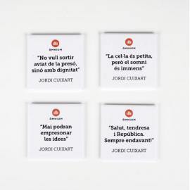 Pack d'imants amb frases del Jordi Cuixart